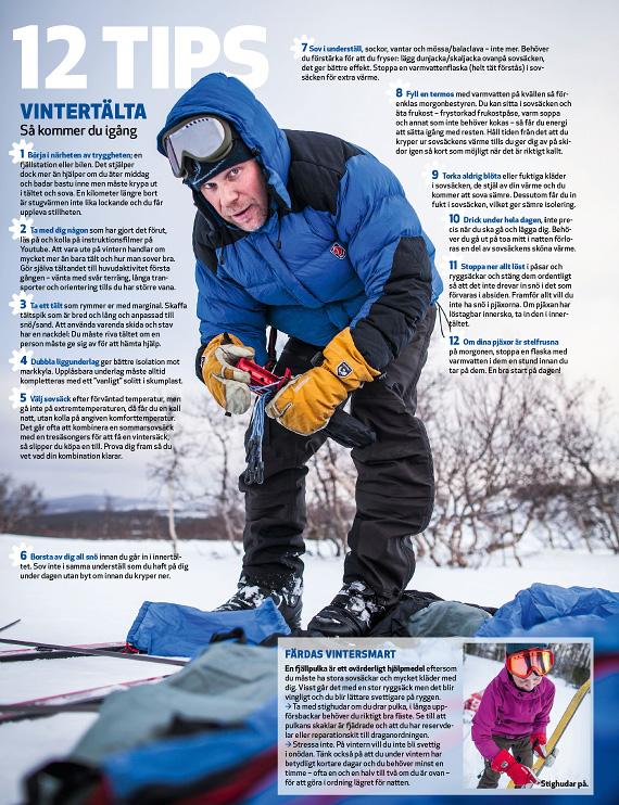 12 tips för vintertältturen