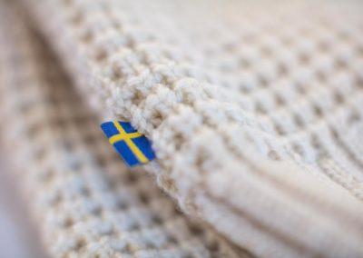 Fjällrävens tröja Brattland no. 1 produceras på Ullforum i Ås.